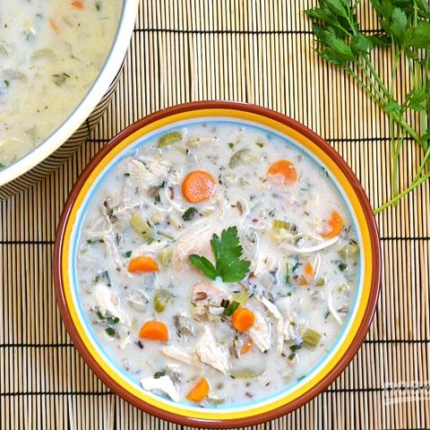 Сливочный суп с курицей и...
